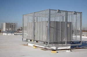 HVAC Roof Security Cage